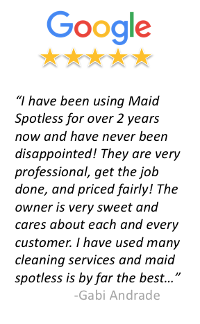 Google review of Maid Spotless