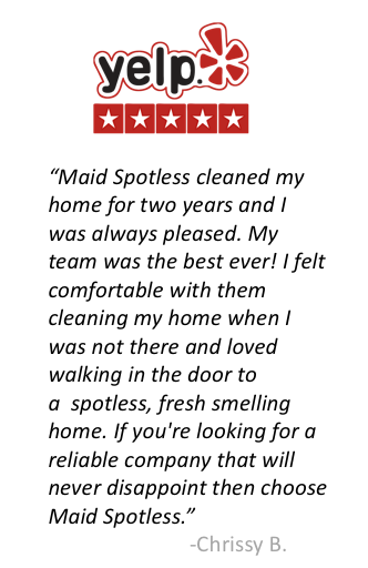 Yelp review of Maid Spotless